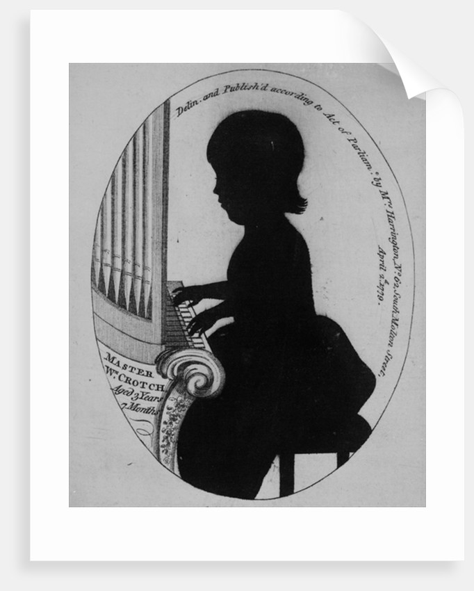William Crotch Playing The Organ Posters Prints By German School