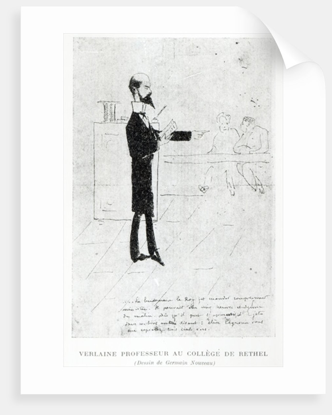 Verlaine teaching at the Institution Notre-Dame in Rethel by Germain Nouveau