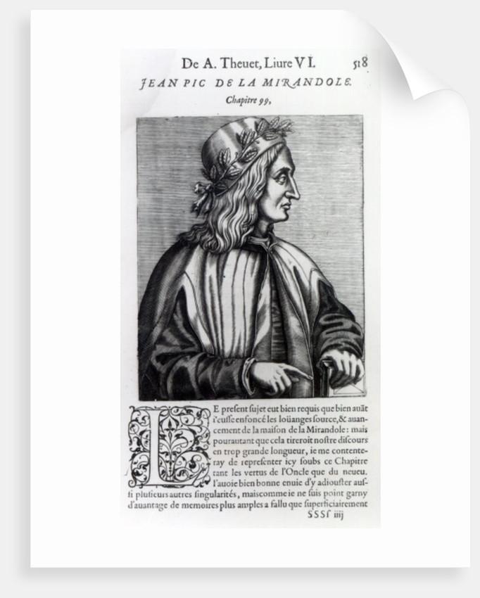 Giovanni Pico della Mirandola by Andre Thevet