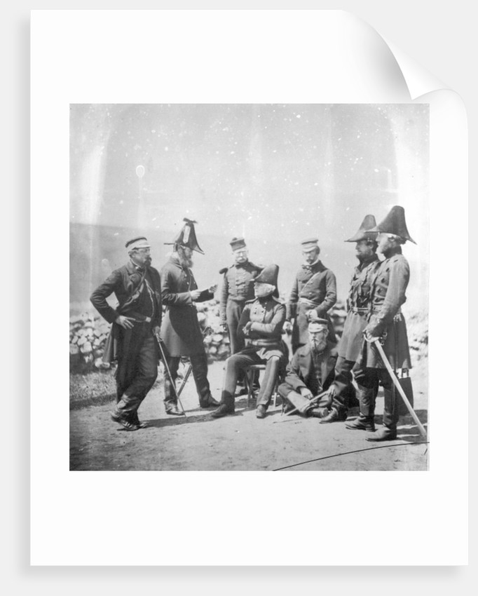 Lieutenant General Sir George Brown G.C.B and officers of his staff by Roger Fenton
