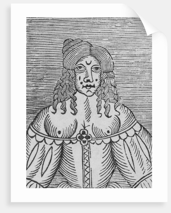 A Tudor Lady with bared breasts by English School