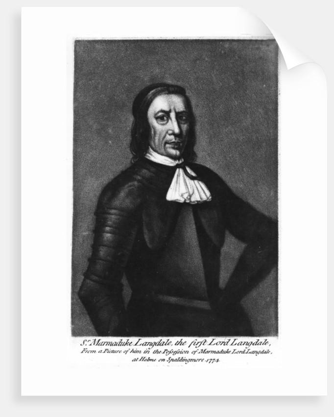 Sir Marmaduke Langdale, 1st Lord Langdale by English School
