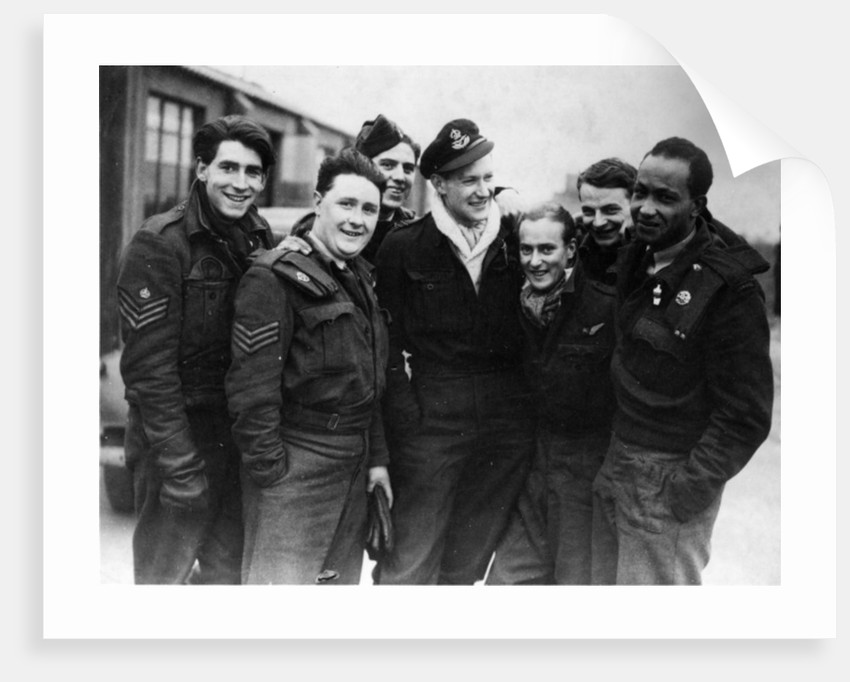 A Lancaster Bomber Crew by English Photographer