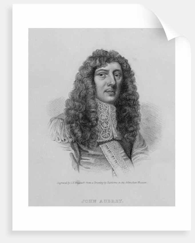 John Aubrey by William Faithorne
