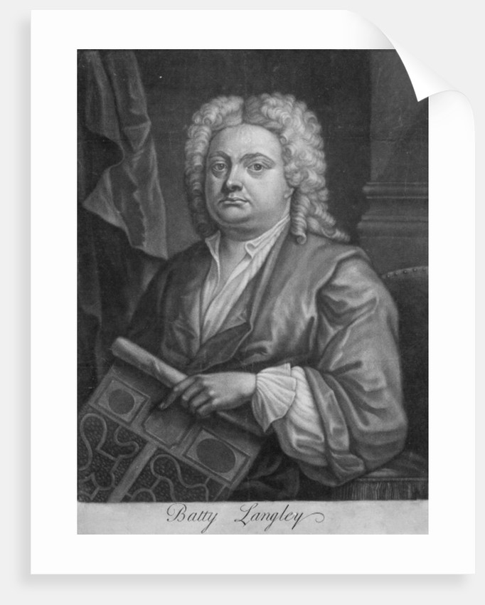 Batty Langley, print made by J. Carwitham by English School