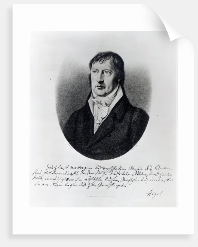 Georg Wilhelm Friedrich Hegel by Johann Christian Xeller