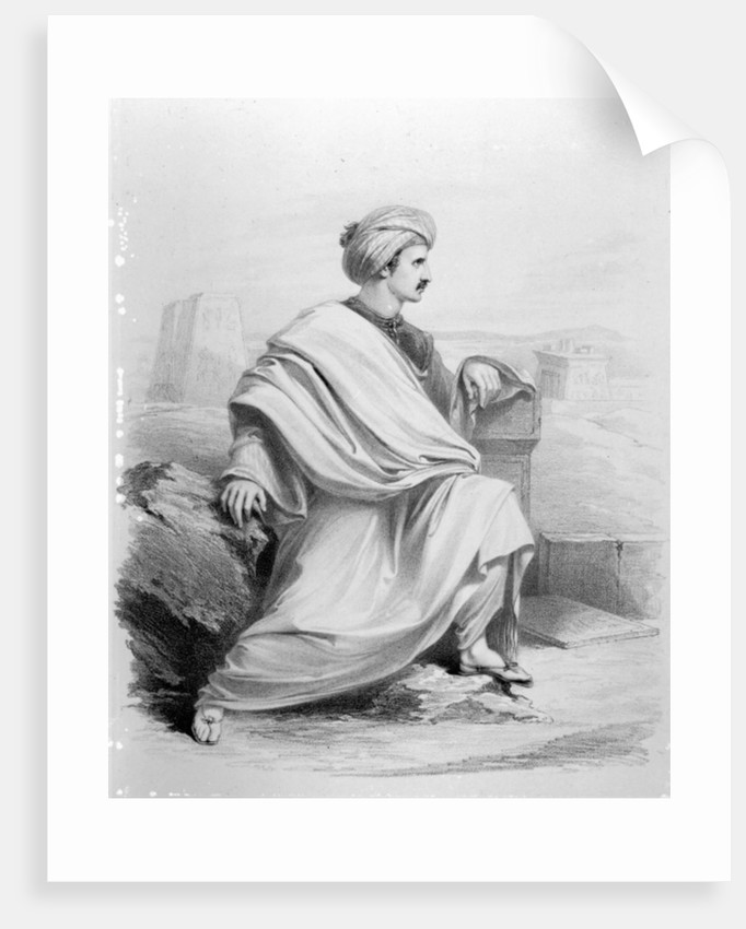 Edward William Lane as 'A Bedouin Arab' by Richard James Lane
