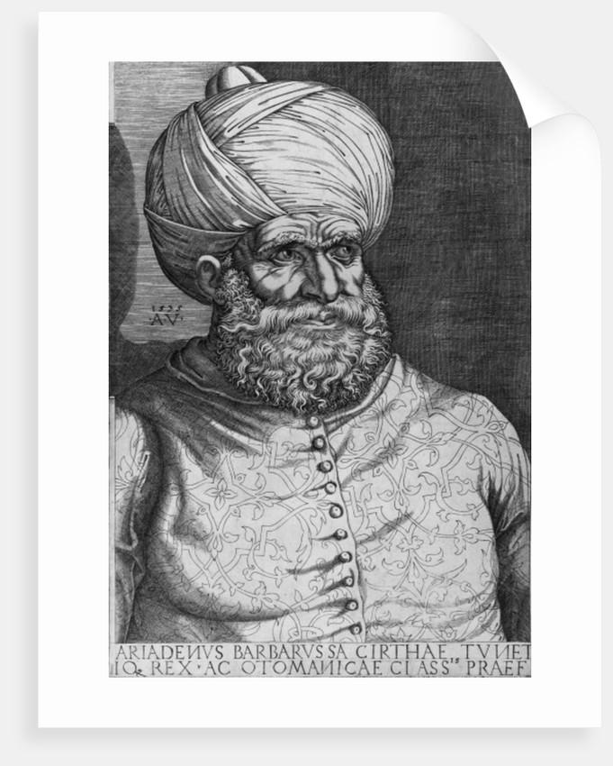 Barbarossa (Khayr ad-Din) (d.1546) 1535 by Agostino Musi