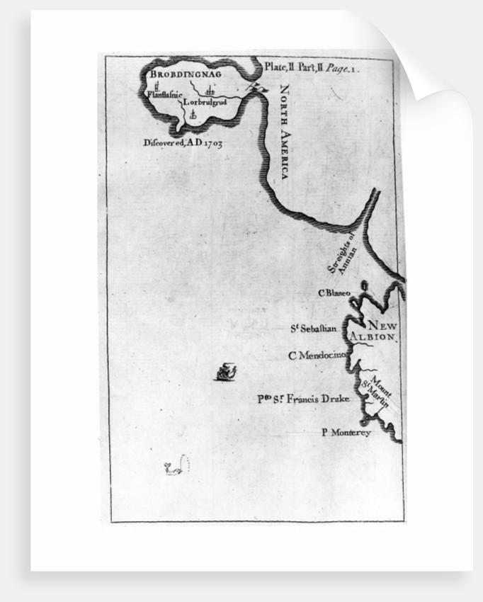 Map of Brobdingnag by English School