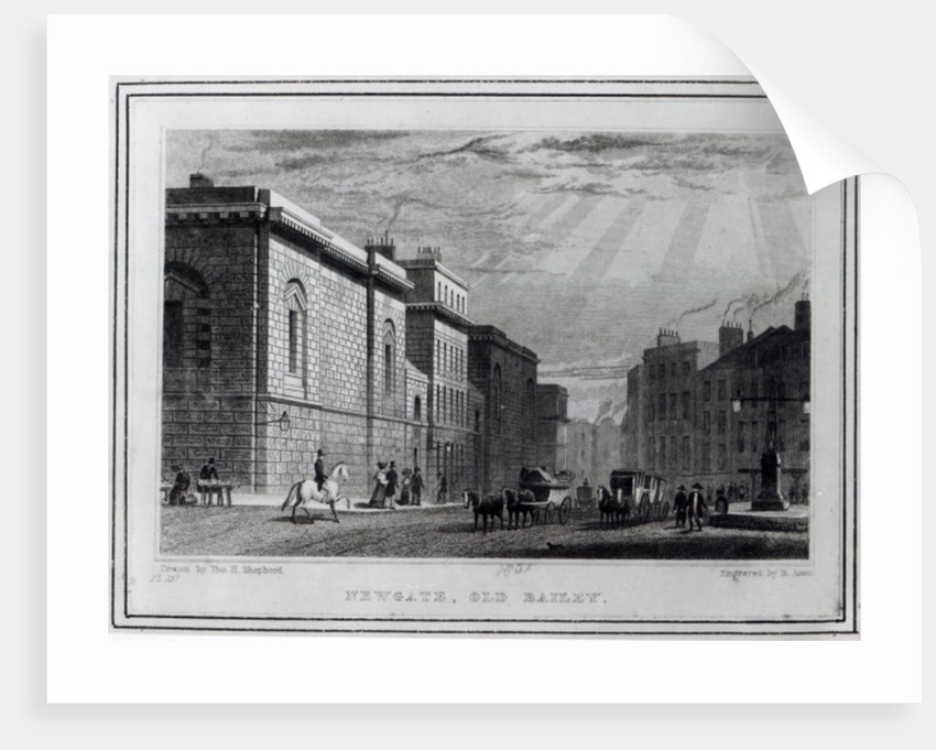 Newgate prison and the Old Bailey by Thomas Hosmer Shepherd