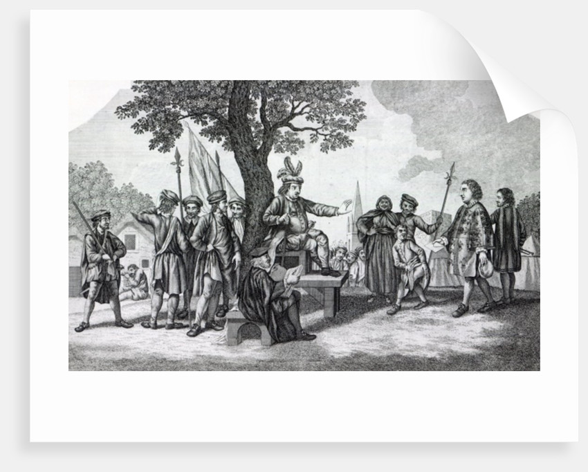 Robert Kett seated under the 'Tree of Reformation' receiving the King's messenger by Samuel Wale