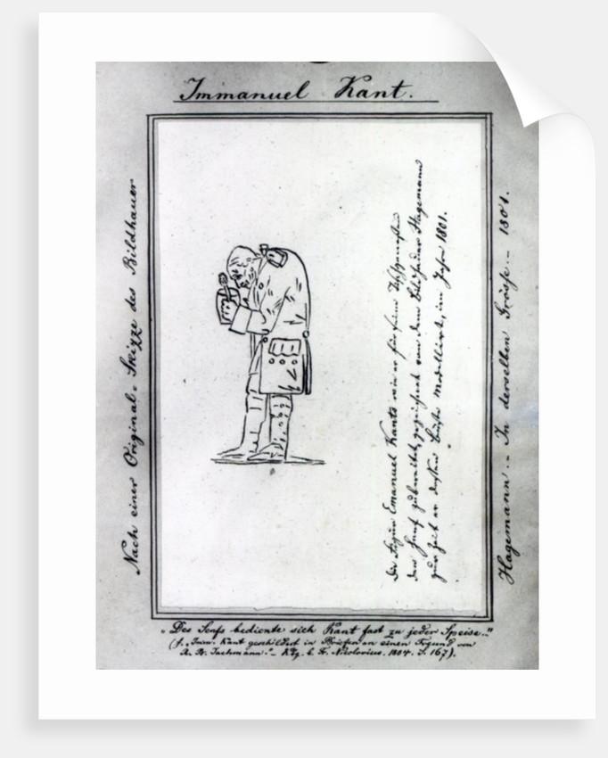Kant mixing mustard by Friedrich Hagemann