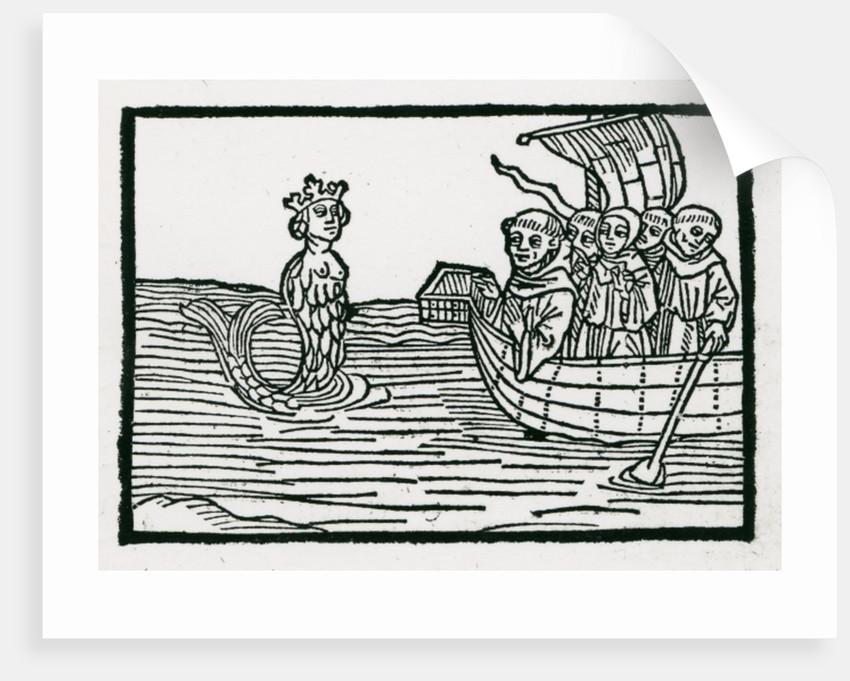 St. Brendan and the Siren by German School