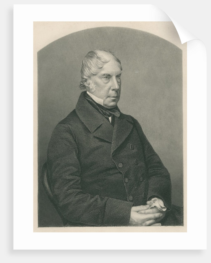 George Hamilton-Gordon, 4th Earl of Aberdeen, engraved by D.J. Pound from a photograph by published in London