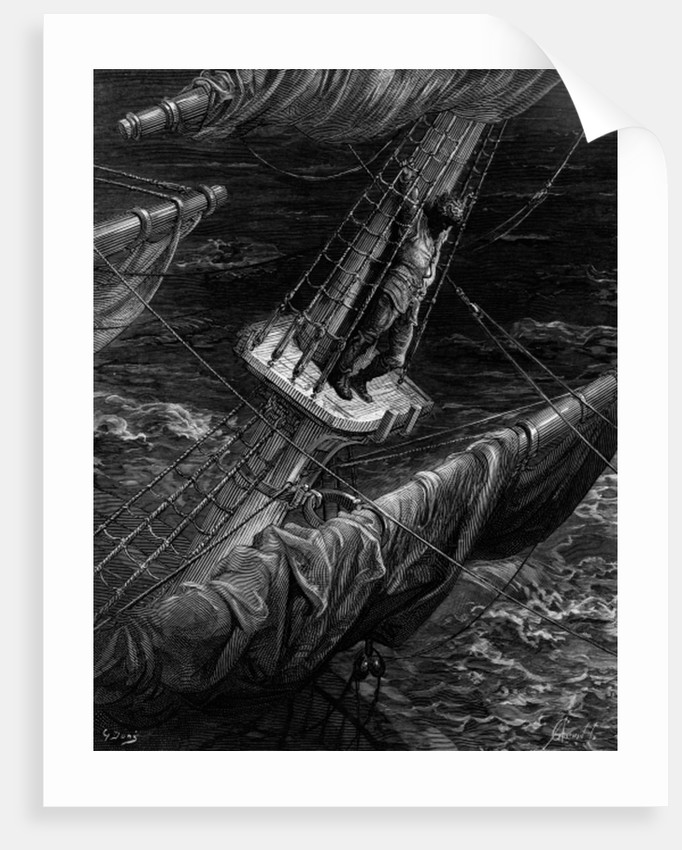 The Mariner regrets his shooting of the Albatross by Gustave Dore