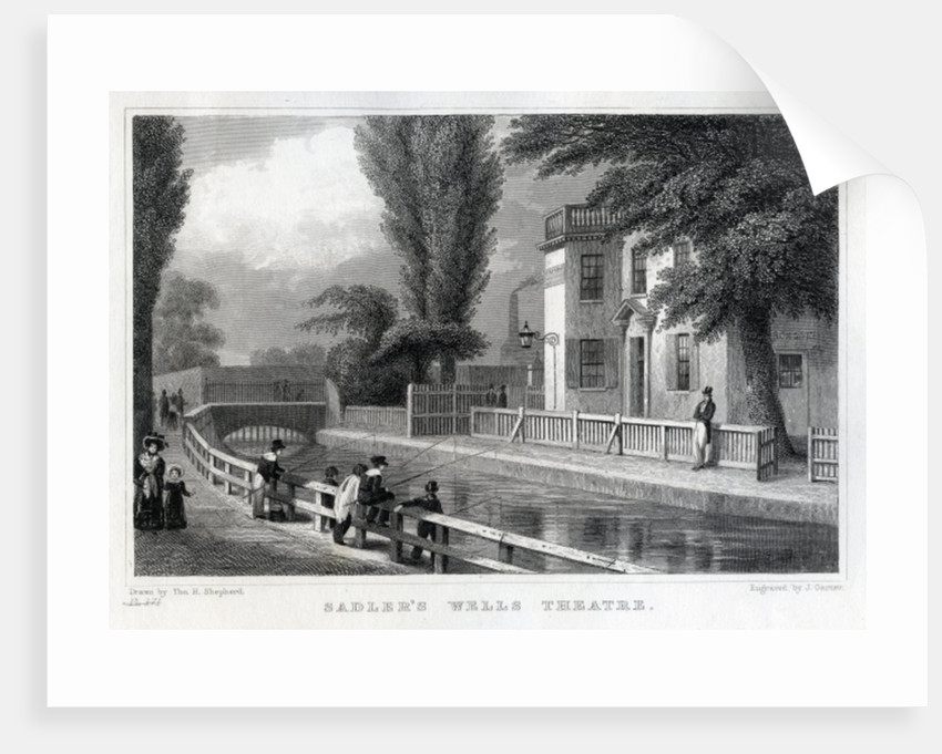 Sadler's Wells Theatre, engraved by J. Garner by Thomas Hosmer Shepherd