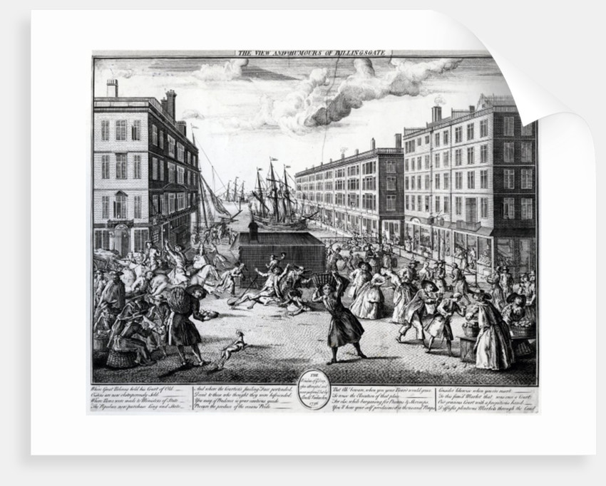 The View and Humours of Billingsgate by Arnold van Haecken