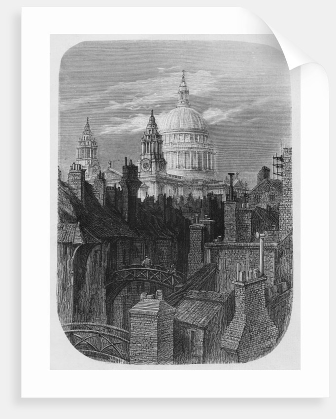 St. Paul's Cathedral and the slums by Gustave Dore