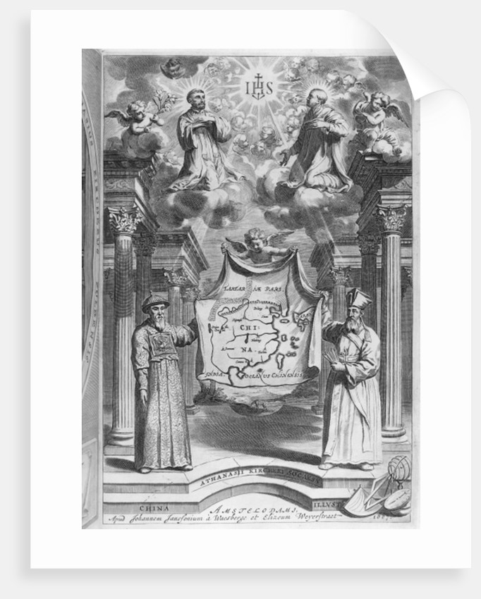 Frontispiece to 'China Monumentis' by Athanasius Kircher by German School