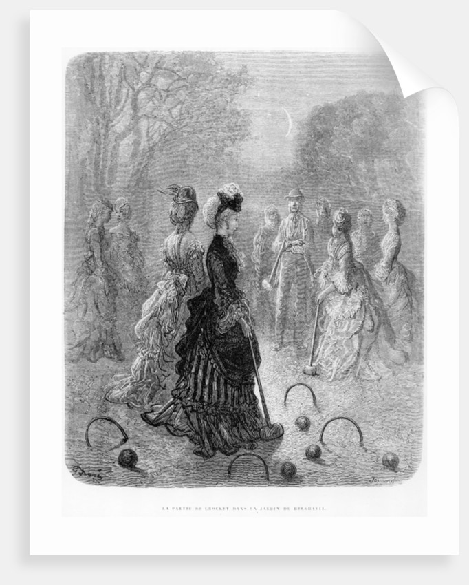 A Game of Croquet by Gustave Dore