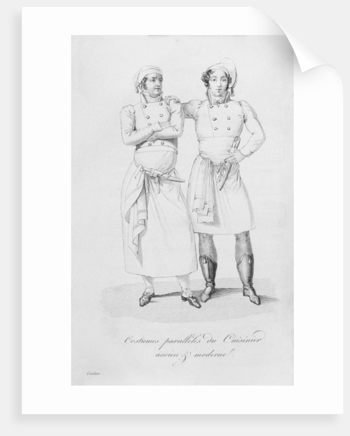 Costumes of cooks from different eras by Marie Antoine Careme
