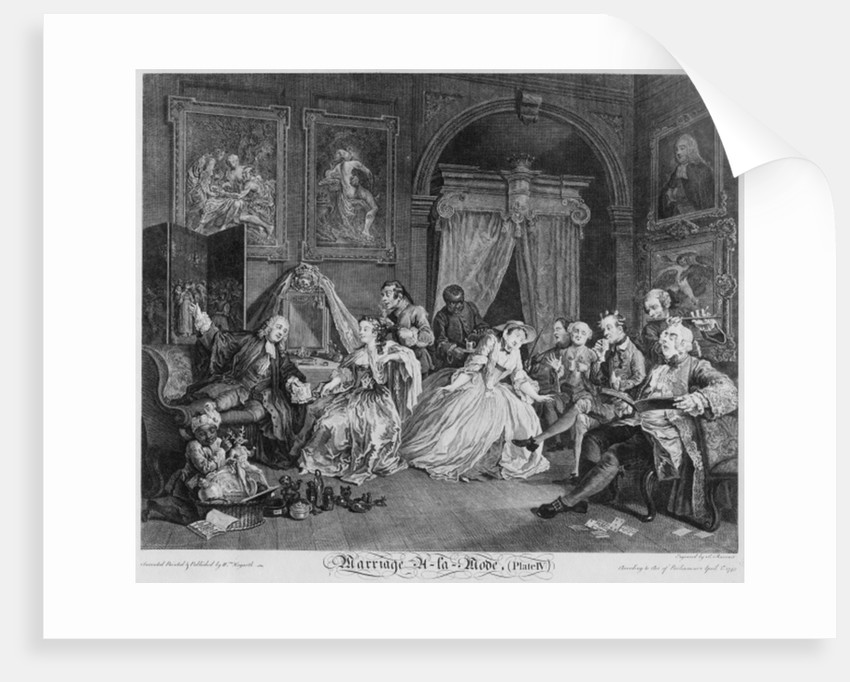 Marriage a la Mode, Plate IV, The Toilette by William Hogarth