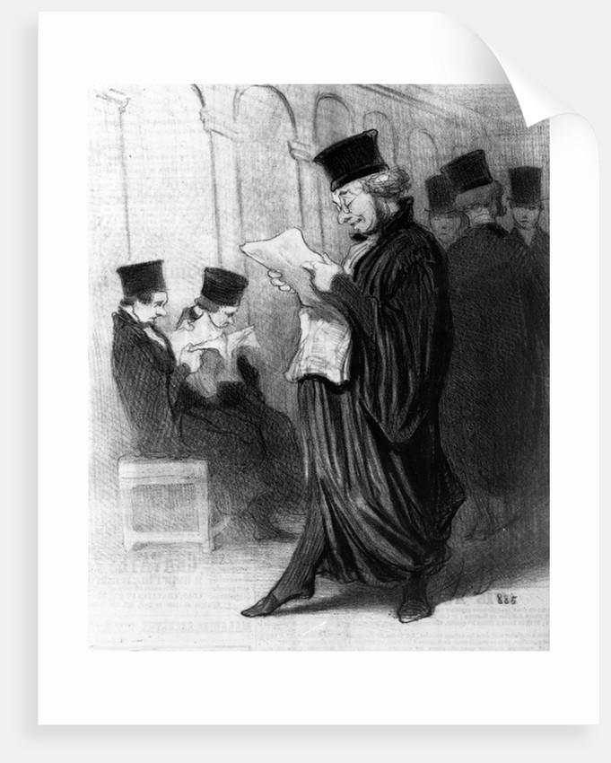 Les Gens de Justice by Honore Daumier