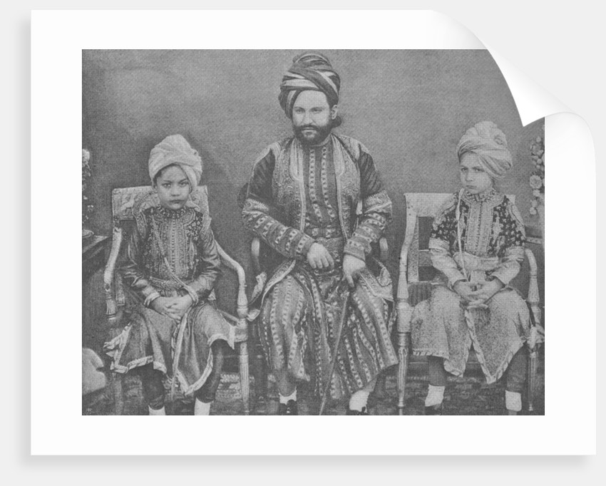 Son-in-Law and Grandsons of Sultan Shah Jahan, Begum of Bhopal by English Photographer