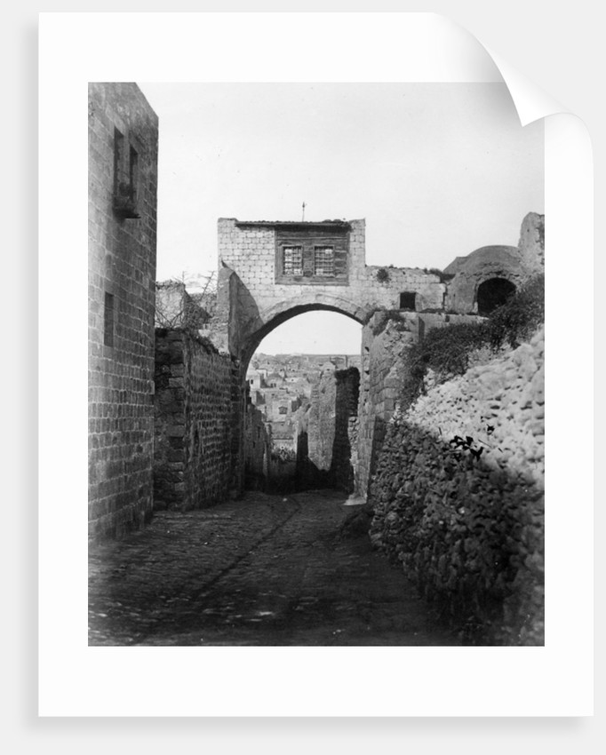 The Ecce Homo Arch across the Via Dolorosa in Jerusalem by James & Beato