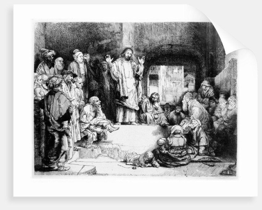 Christ preaching by Rembrandt Harmensz. van Rijn