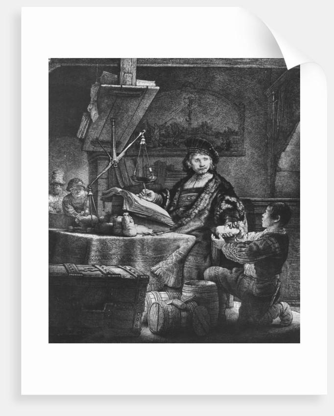 Jan Uytenbogaert 'The Goldweigher' by Rembrandt Harmensz. van Rijn