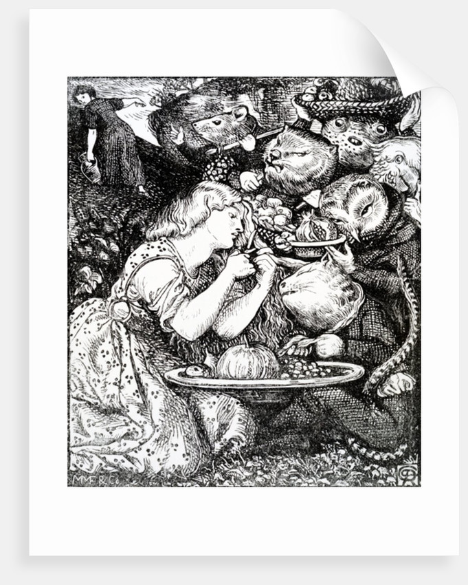 Frontispece to 'Goblin Market and other poems' by Christina Rossetti by Dante Gabriel Rossetti
