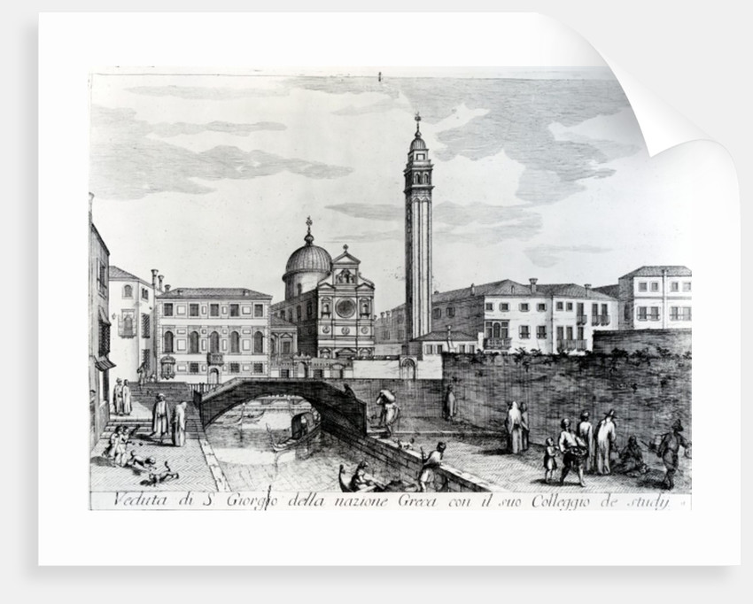 View of San Giorgio dei Greci and the Flanginian School, Venice by Italian School