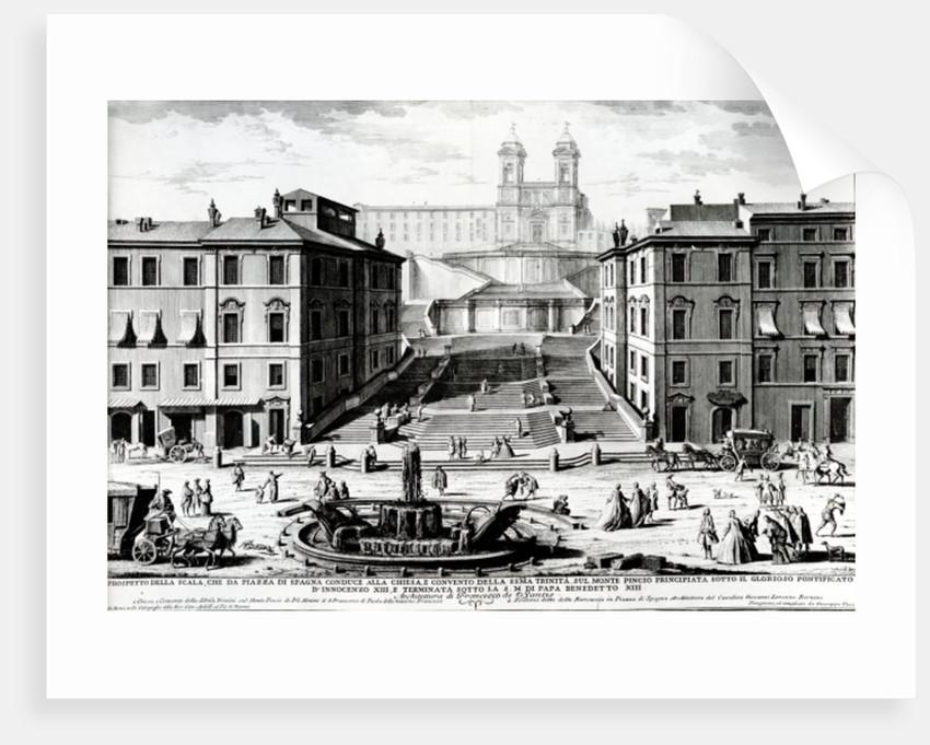 Piazza di Spagna by Giuseppe Vasi