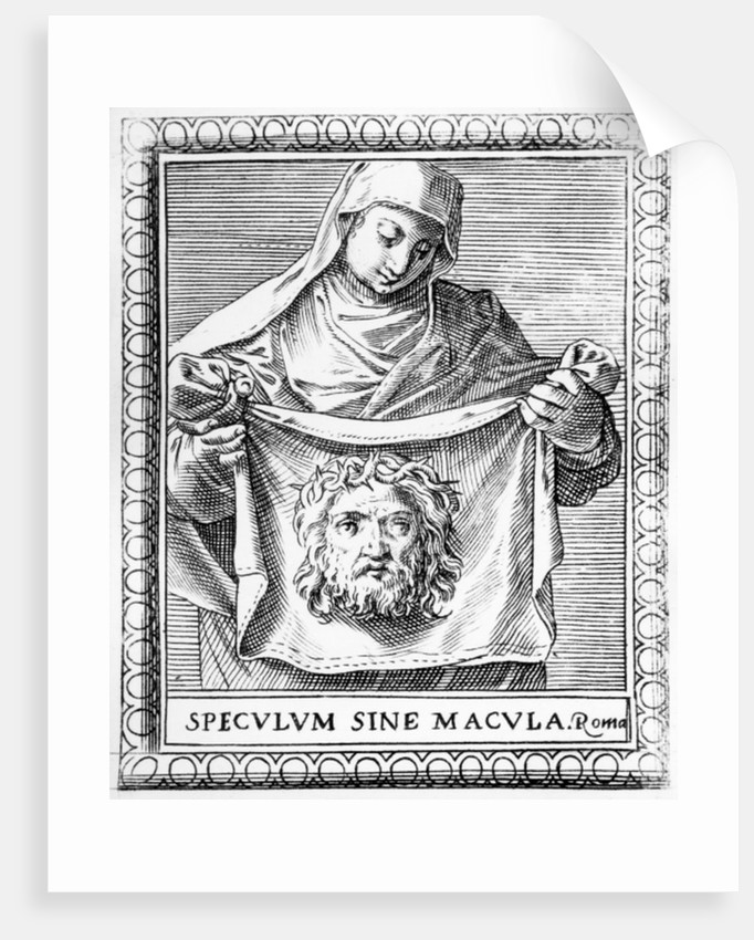 Veronica holding the Sudarium by Agostino Carracci