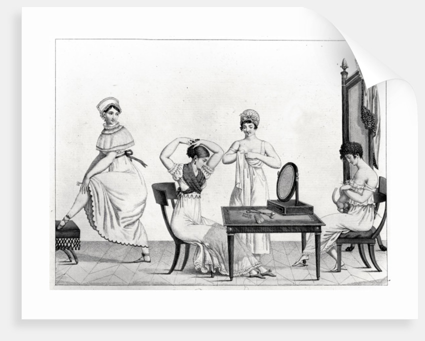 The Grisettes Rise, Plate 29 from 'Le Bon Genre' by French School