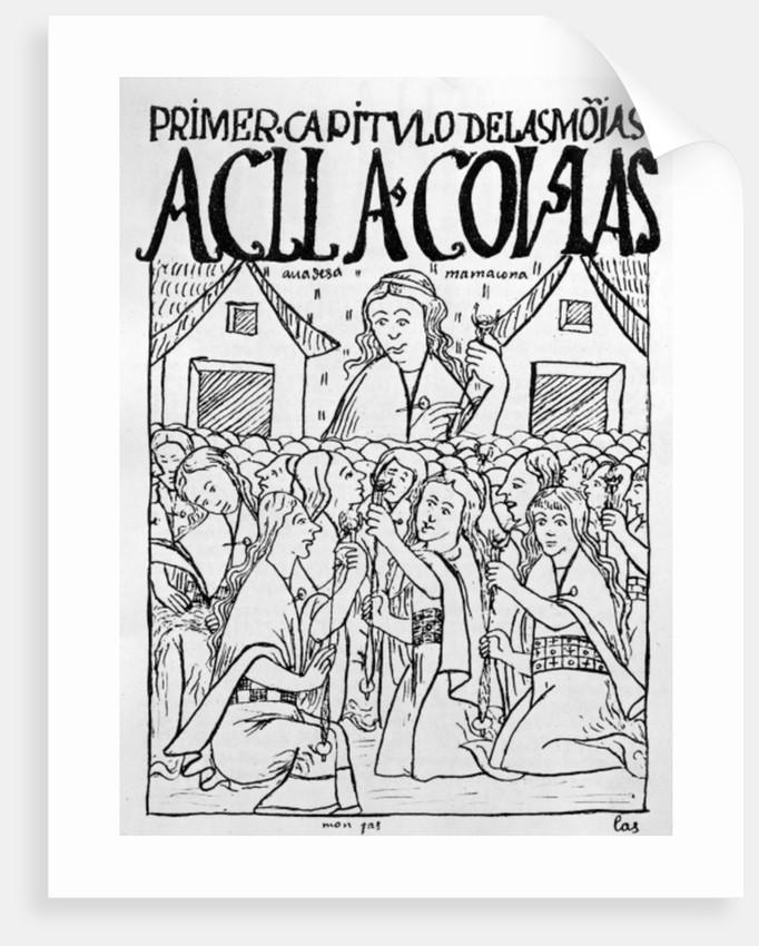 The Chosen Virgins by Felipe Huaman Poma de Ayala
