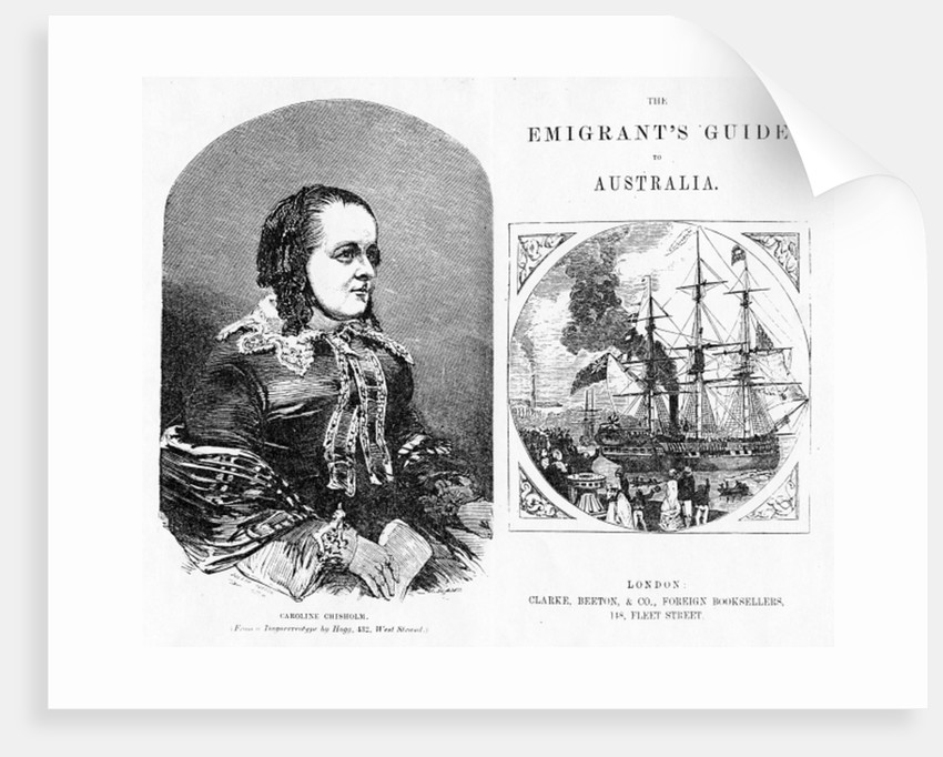 Title page and Frontispiece to 'The Emigrant's Guide to Australia', by Eneas Mackenzie by English School
