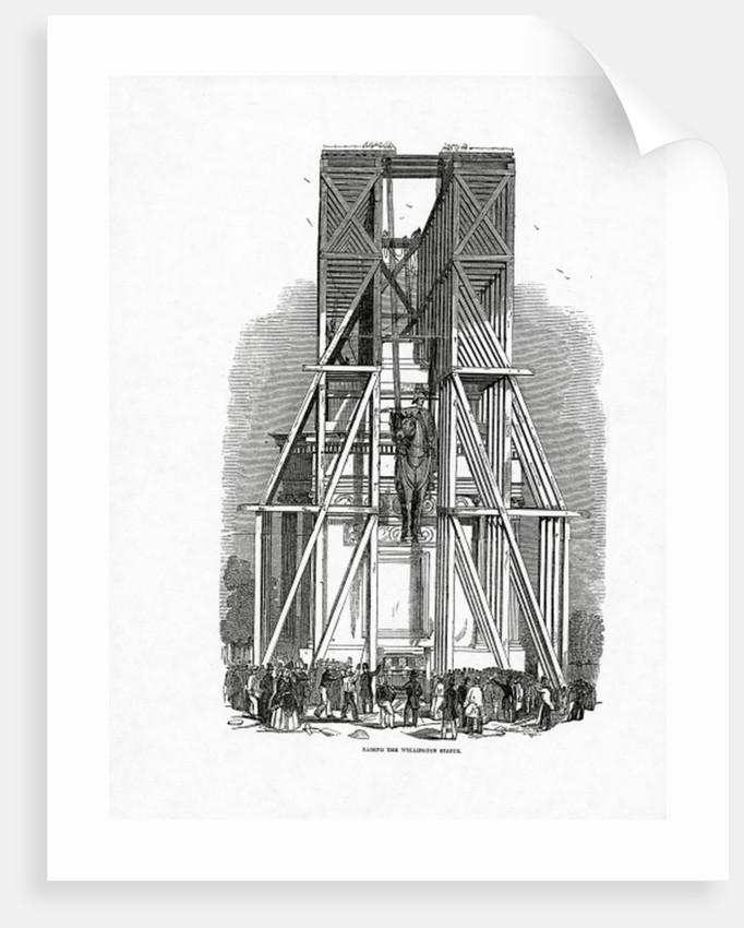 Raising the Wellington Statue by Ebenezer Landells