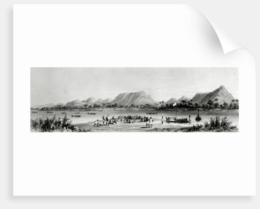 Mountains & Market Canoes near Bokwen by William Allen