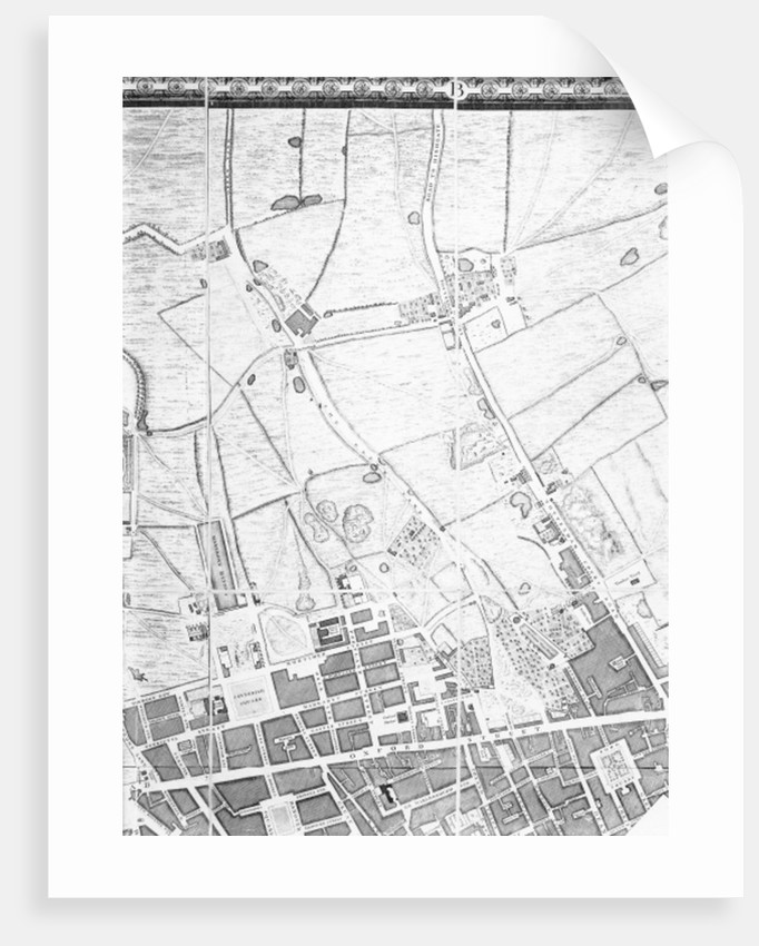 A Map of the West End and Soho, London by John Rocque