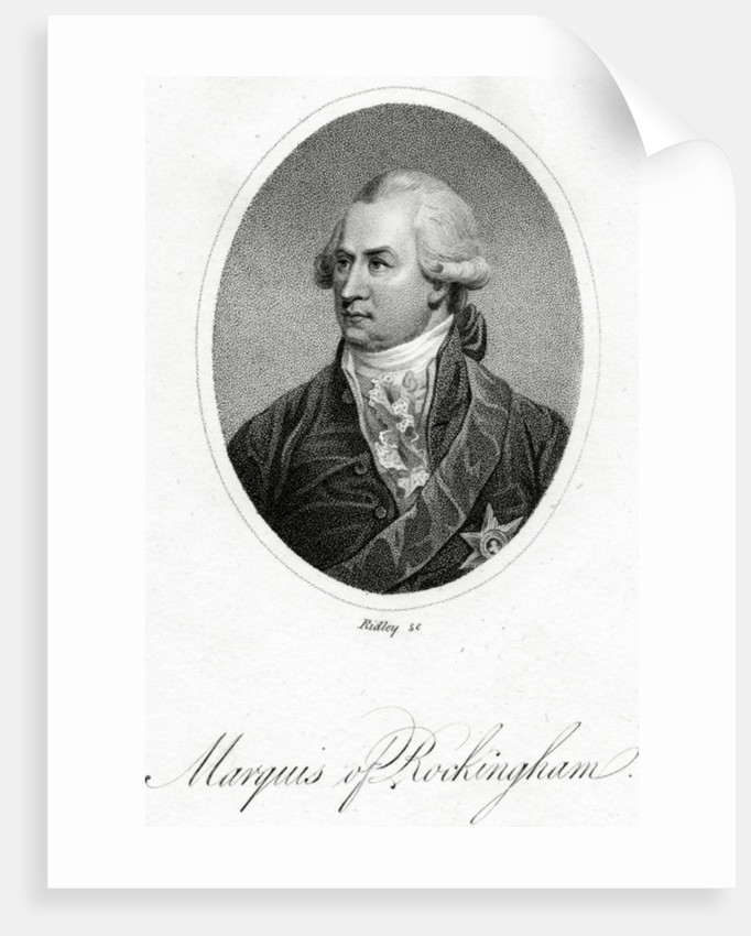 The Marquis of Rockingham by English School