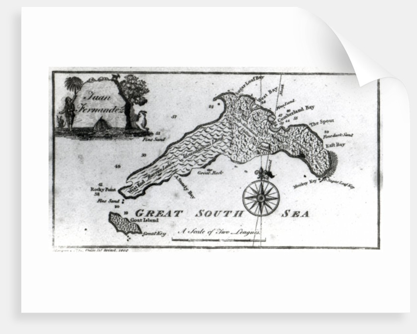 A Map of the Island of Juan Fernandez by English School