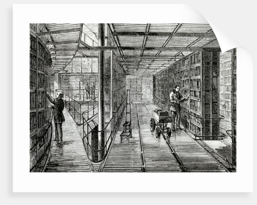 The Book-Cases at the British Museum by English School