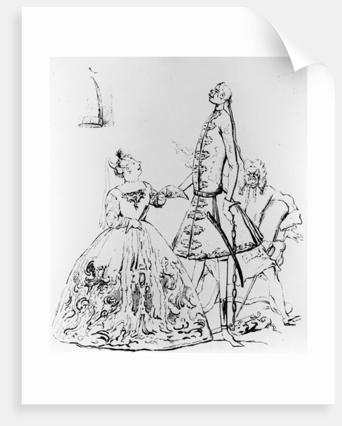 'Thou Tuneful Scarecrow and Thou Warbling Bird' by Joseph Goupy