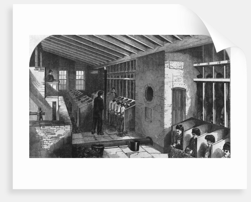 Tread-Wheel and Oakum-Shed at the City Prison, Holloway by English School