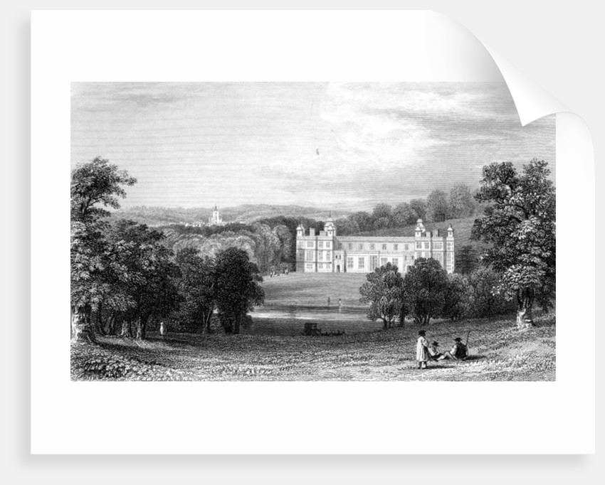 Audley End, Essex by William Henry Bartlett