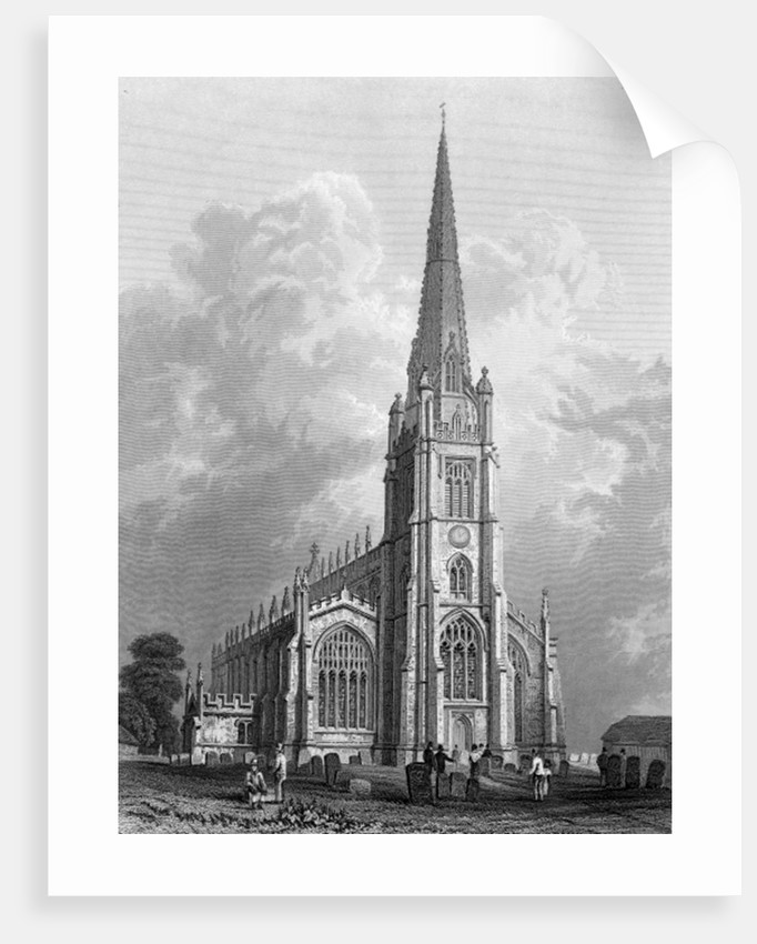 Church of St. Mary the Virgin, Saffron Walden by William Henry Bartlett