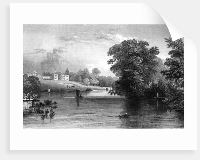 Braxted Lodge, near Witham, Essex by William Henry Bartlett