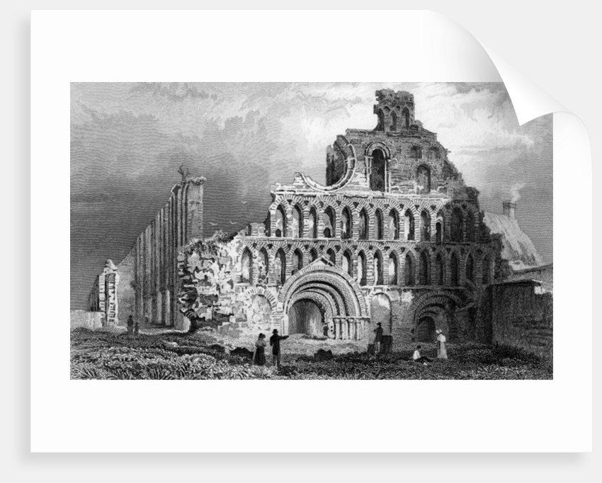 St. Botolph's Priory, Colchester, Essex by William Henry Bartlett